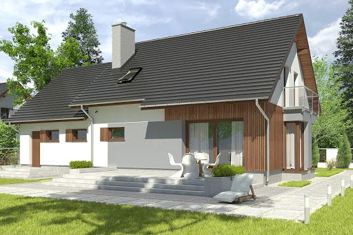projekt Daria III z garażem 2-st. A1