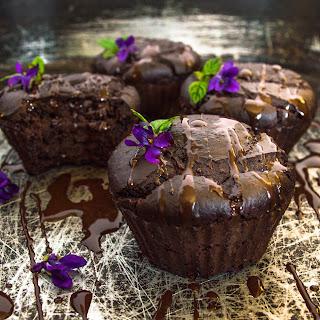 Chickpeas, Chocolate And Tahini Muffins.