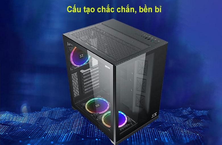 Case Xigmatek AQUARIUS S BLACK (No Fan) Đen (EN46508) | Cấu tạo chắc chắn, bền bỉ