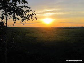 Photo: Moscow field station...first sunrise of the field season!