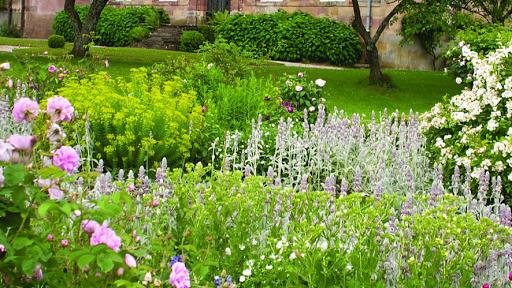 les jardins de l'abbaye d'Autrey