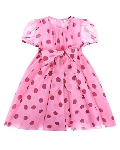 Купить Розовое платье в горошек DolceGabbana детское L22DB5 HS19Z HF96R