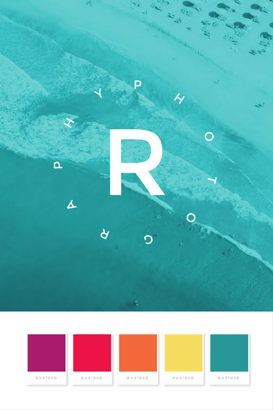 Photography Palette - Brand Board Template