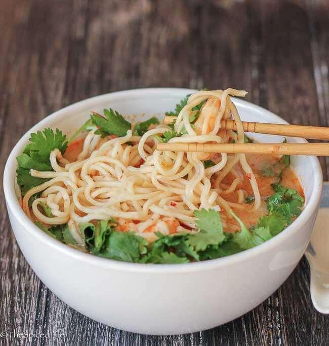 Creamy Tom Yum with Ramen Noodles Recipe