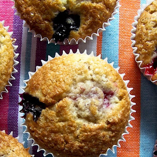 Mixed Berry and Jam Muffins