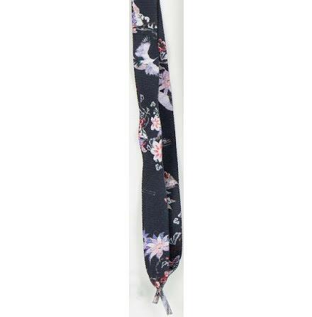 Skosnöre rips blommigt svart 192