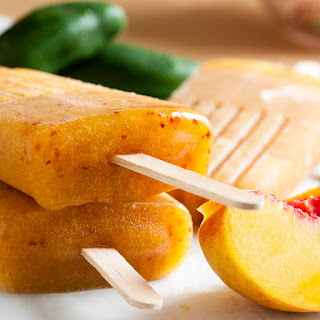 Peach Jalapeño Popsicles