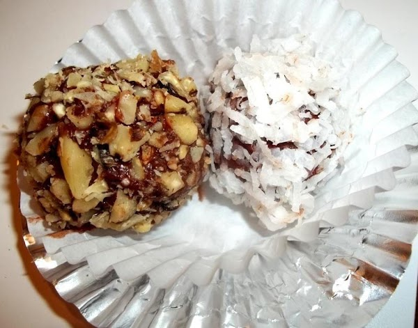 Have nuts and coconut ready. I spread each on paper plates.   I use about...