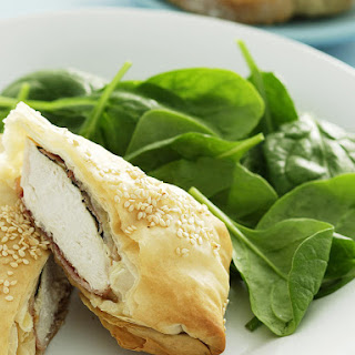 Chicken and Camembert Parcels.