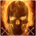 Flaming Skull Theme Skull Fire icon