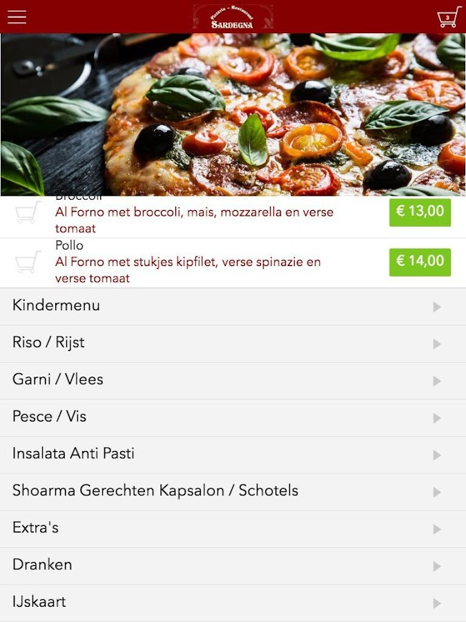 Pizzeria Sardegna- screenshot