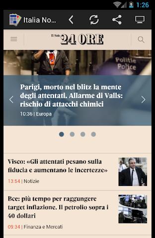 android Quotidiani Italiani Screenshot 2