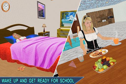Virtual Girl Life: New High School Girl Sim android2mod screenshots 1
