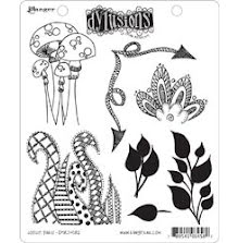 Dylusions Cling Stamps 8.5X7 - Doodle Parts