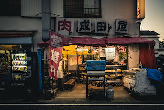 Photo: The Meat Shop  I've been trying this year to take more photos that share the everyday kinds of scenes one might see around Japan. While epic landscapes and cityscapes may pull a person to travel somewhere, I think these kinds of images are the ones that draw up nostalgia after a visit. I took this one just last week here in my town in Chiba Prefecture.  Blog post: http://lestaylorphoto.com/a-meat-shop-in-chiba/  #japan #photography #nikond610 #travel