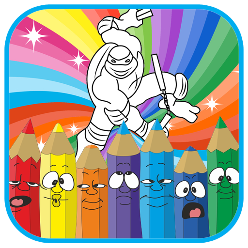 How to color ninja heroes ( coloring pages) (game)