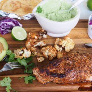 Roasted Pork Tenderloin and Cauliflower Tacos.
