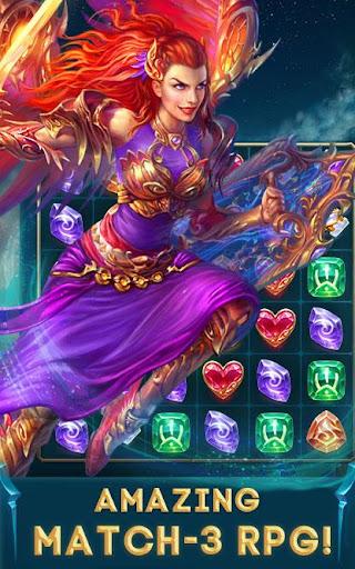 vortex: heroes of battle stones match-3 rpg screenshot 1