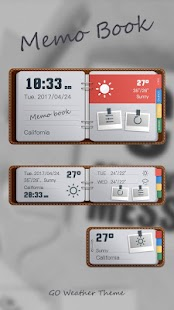 Memo Book Weather Widget Theme - náhled