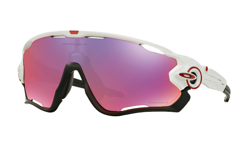 Oakley Jawbreaker polished white and Black Prizm Road