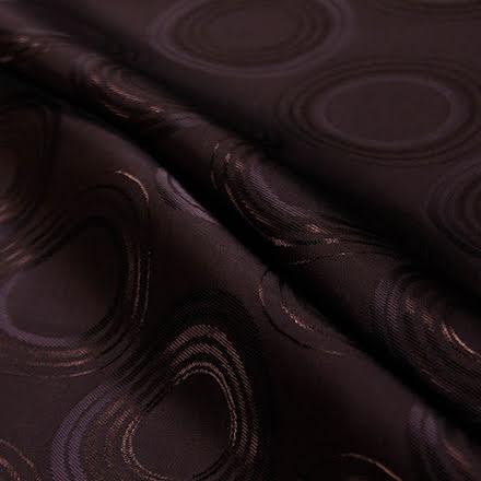 Mönstrat Viskosfoder - svartbrun