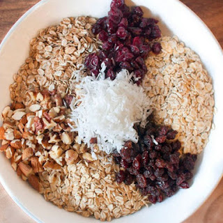 Muesli with Nuts and Dried Fruits.