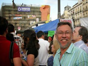 Photo: Ignacio López Colón en la Puerta del Sol, Madrid, apoyando al Movimiento 15-M, 21 de mayo de 2011