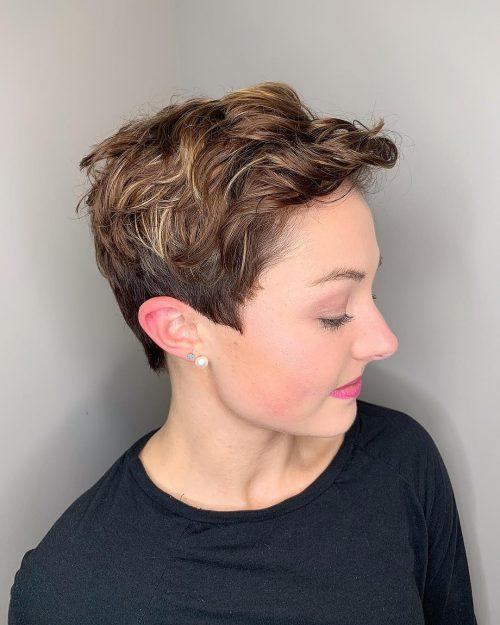 Fine curly hair pixie cut