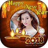 Happy New Year Photo Frame 2018