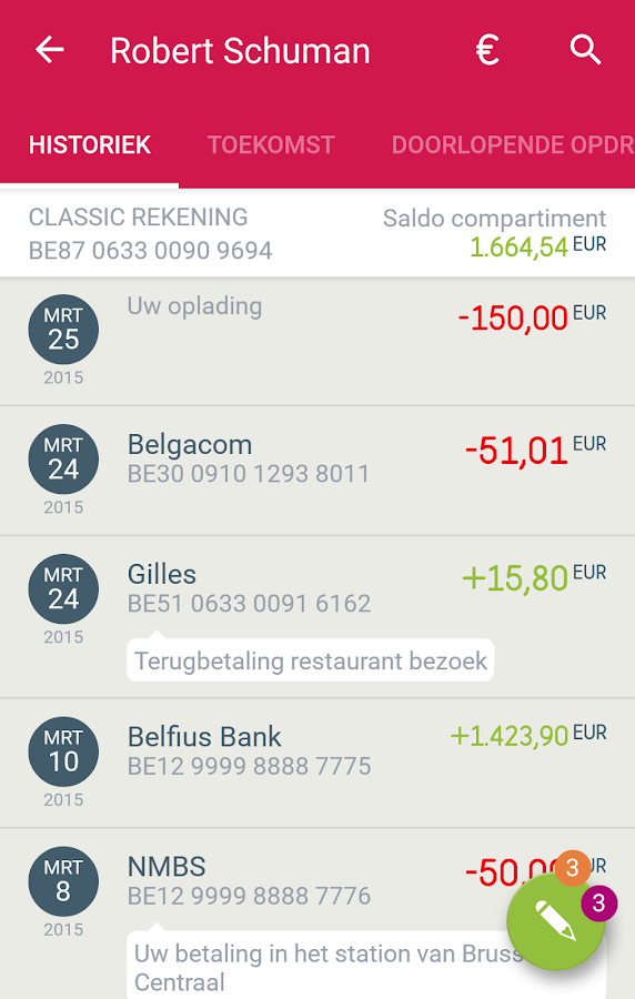 New Belfius Direct Mobile- screenshot