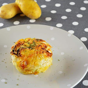 Potato and Celery Root Gratin with Chorizo