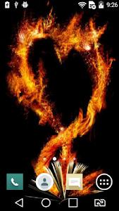 Flaming heart live wallpaper screenshot 0