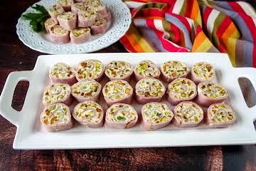 Ham & Pistachio Roll-Ups