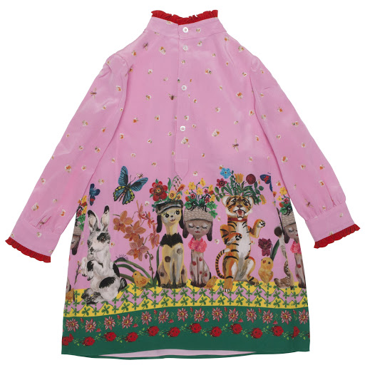 Thumbnail images of Gucci Silk Floral Dress