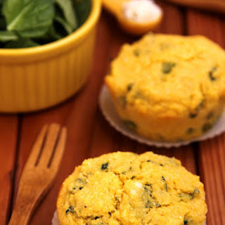 Spinach and Goat Cheese Cornbread Muffins.