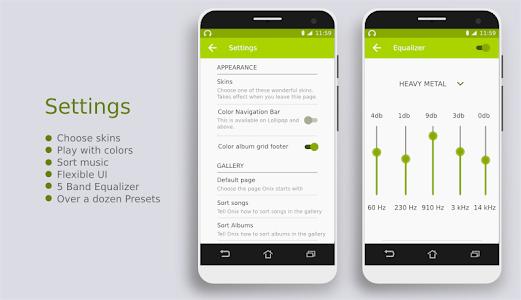 Onix Music Player - Free screenshot 5