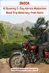 A Stunning 5-Day Kerala Motorbike Road Trip Itinerary from Kochi - Munnar Tea Gardens, Thekkady Periyar National Park, Kumarakom Bird Sanctuary, Kerala Backwaters, and Arabic Coast Beaches and Fishing Villages