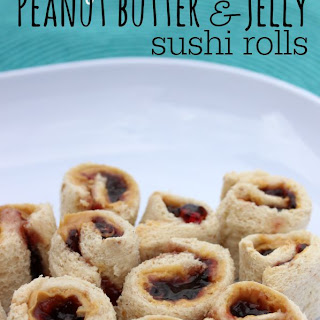 How to make Peanut butter and Jelly Sandwich Sushi rolls.