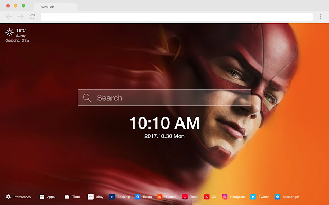 The Flash Popular HD TV Series New Tabs Theme