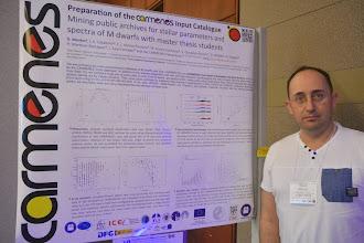 "Photo: CARMENES poster at ""Cool Star 18"" #cs18 showing results of Master thesis students #MasterUCM (Universidad Complutense de Madrid) http://carmenes.caha.es/ext/conferences/CARMENES_CS18_Montes.pdf"