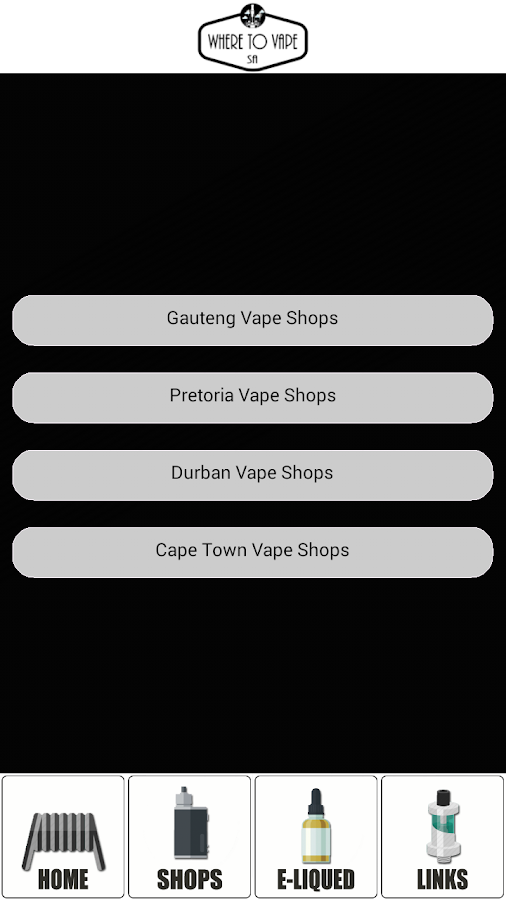 Where To Vape SA- screenshot