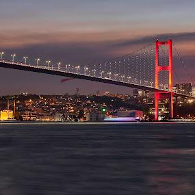 Merhaba Istanbul by Souhayl Bk - City,  Street & Park  Night ( viewpoint, turkey, cityscape, bridge, istanbul, city )