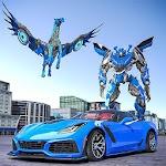 La policía nos transforme unicornio Robot de coche Icon