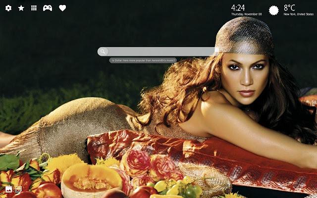Jennifer Lopez Hd Wallpaper New Tab Theme