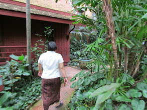 Photo: Our tour guide for the Jim Thompson house museum