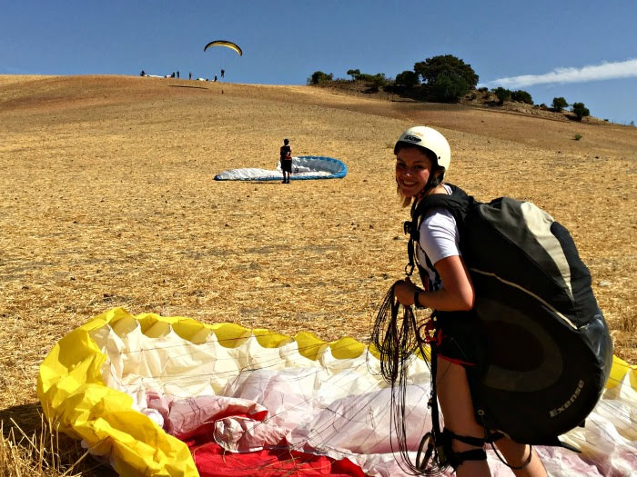 November proves another excellent month for paragliding tuition