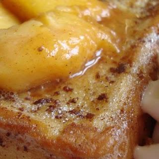 Mascarpone Stuffed French Toast with Peaches