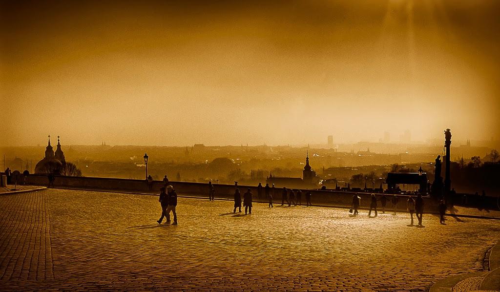 Photo: Morning light near Prague Castle - February 2008 - Quadtone