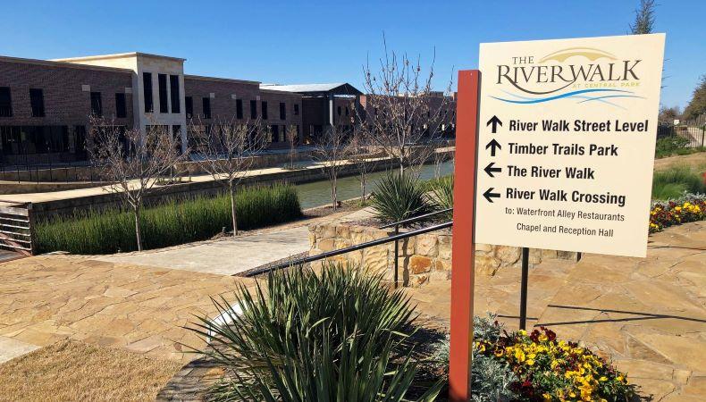 The Riverwalk development in Flower Mound