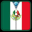 Mexico Flag Zipper UnLock icon